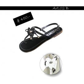 ART 02 sandalia con flor Motor Oil