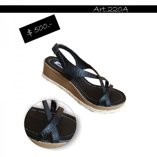 ART 220A sandalia con vivo yute Motor Oil