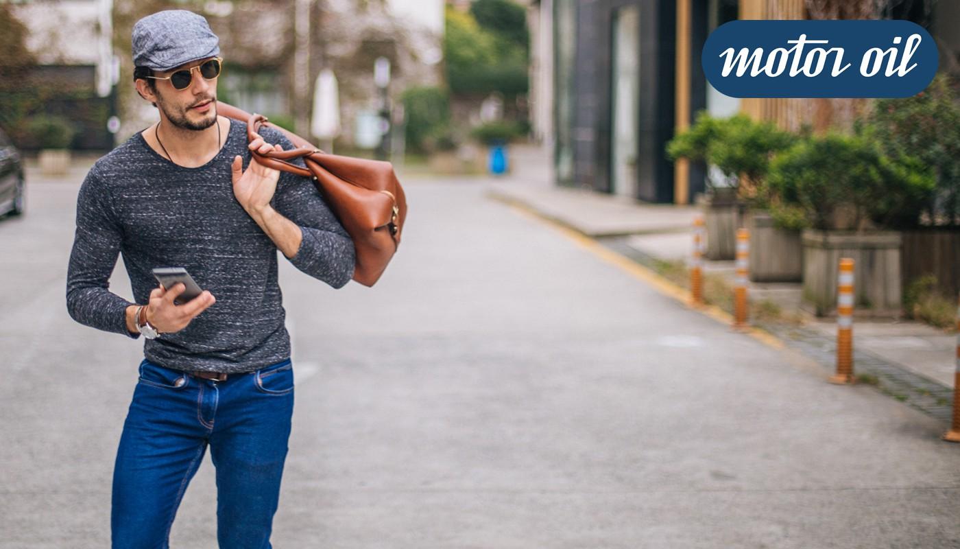 Motoroil Jeans de hombre y mujer con anteojos verano